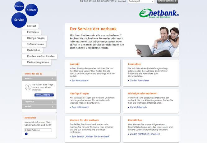 netbank bietet einen umfangreichen Service