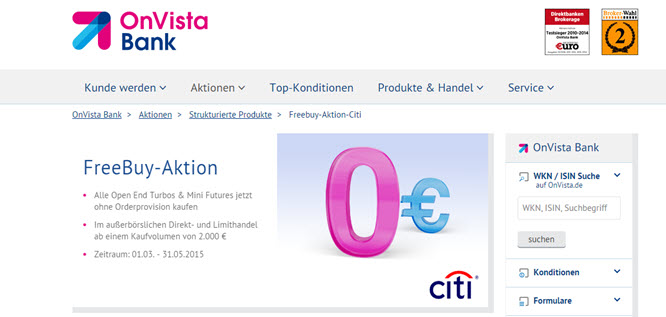 OnVista Freebuy-Aktion - Der Check