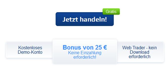Bei Plus500 anmelden und einen Bonus von 25€ sichern