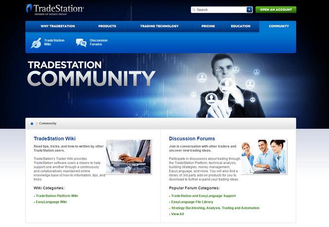 Tradestation verfügt über eine freundliche Community
