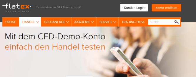 Flatex Demokonto leicht registrieren