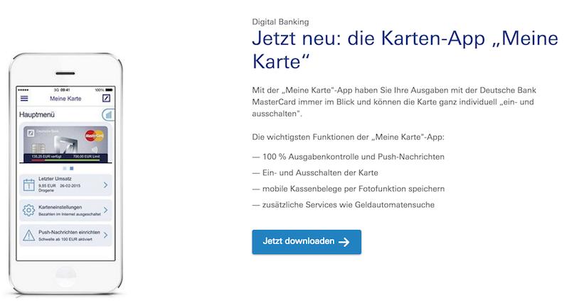 Deutsche Bank Karten-App