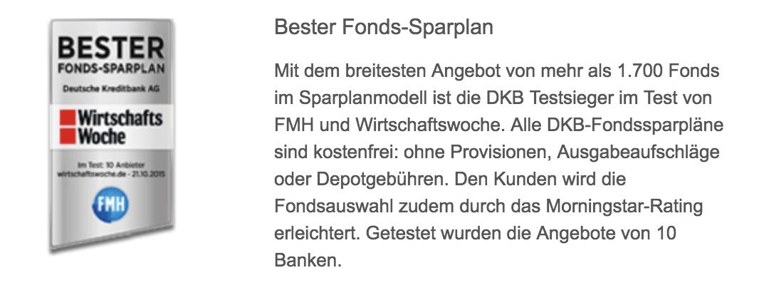 DKB Fonds-Sparplan