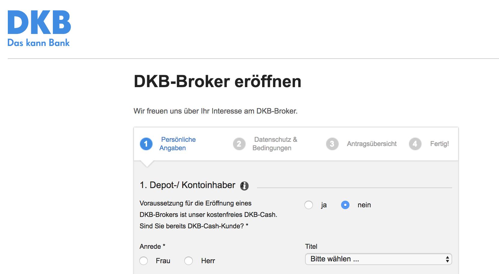 DKB Kontoeröffnung