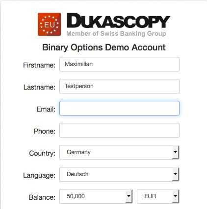 Dukascopy Demo-Account