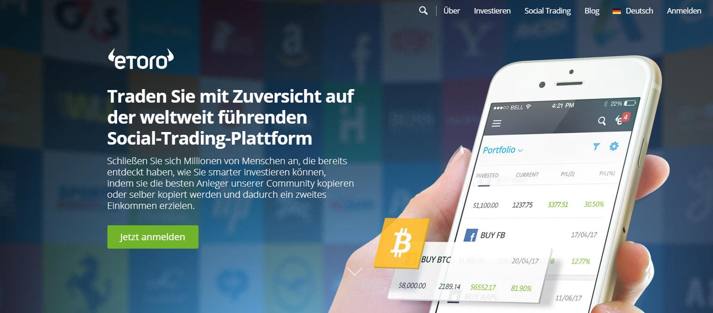 Bitcoin Live Chart eToro Starteite