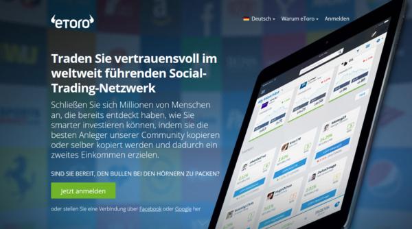 eToro Webauftritt