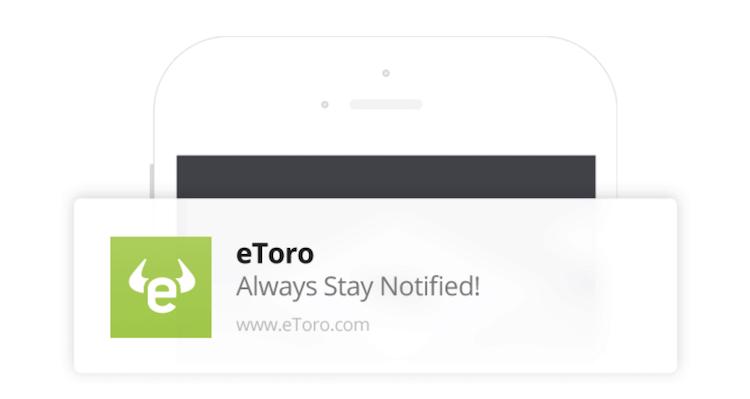 eToro App Pushnachrichten