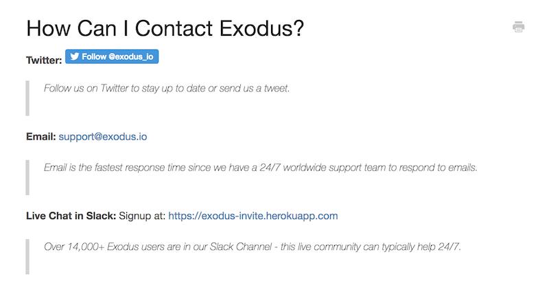 Exodus Support