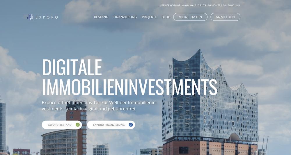 Digitale Immobilieninvestments sind mit Exporo ganz einfach
