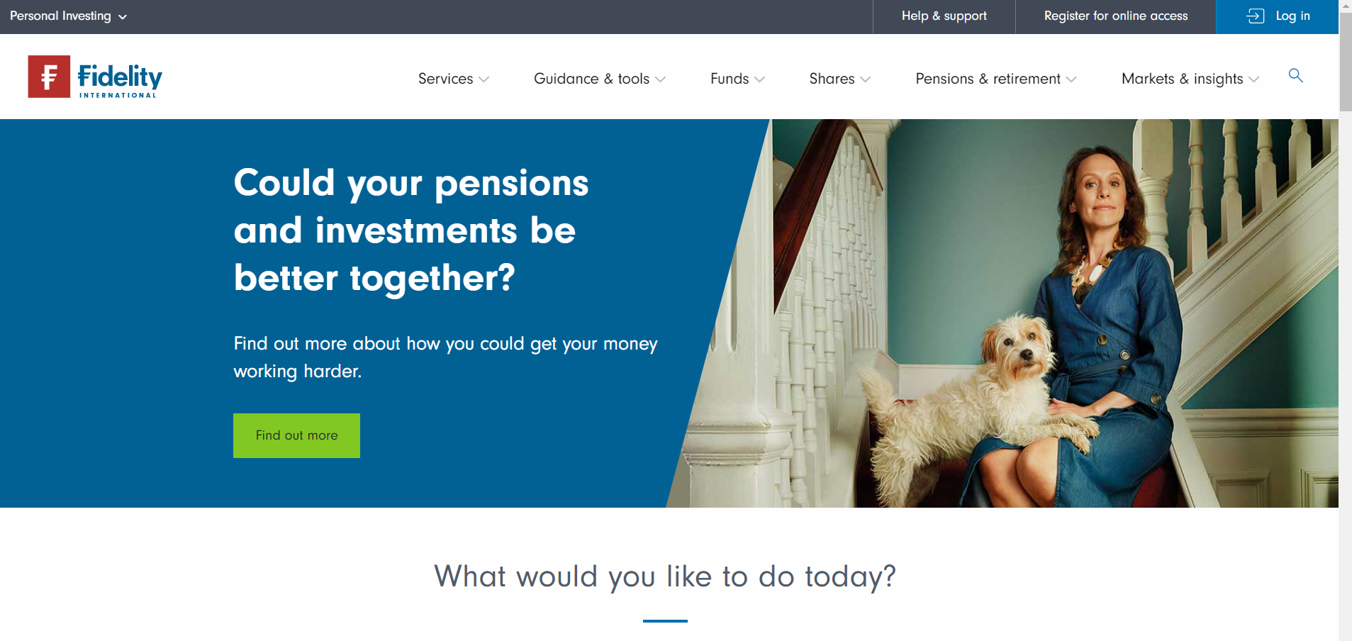 This is the homepage of fidelity