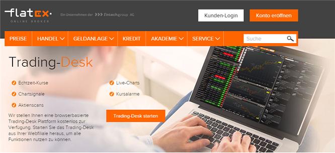 Flatex Trading Desk