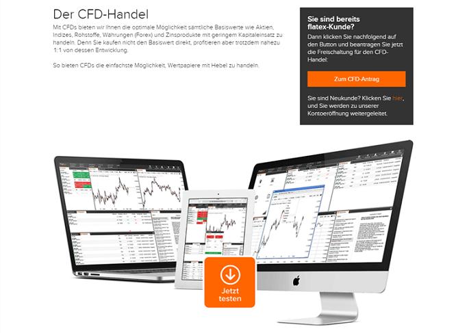 Verschiedene Handelsplattformen stehen für Kunden des Brokers flatex zur Verfügung