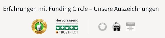Funding Circle Auszeichnungen