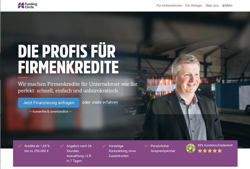 Funding Circle Homepage