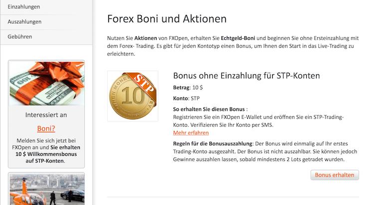 FXOpen Bonus