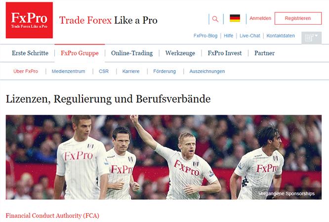 Regulierung von FxPro