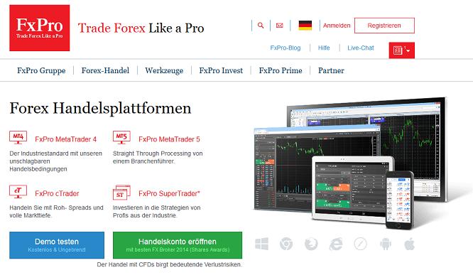 FxPro auch als App verfügbar