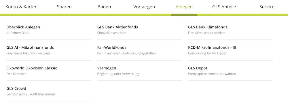 GLS Bank Angebot