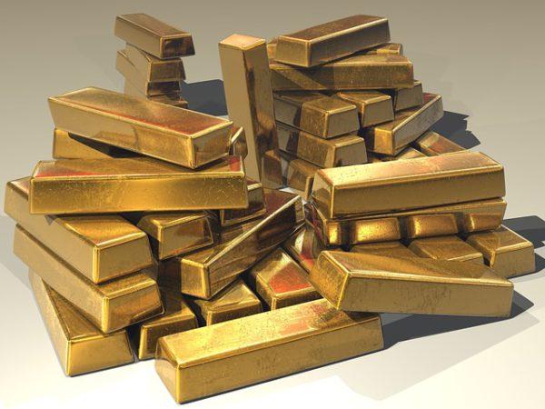Goldbarren, 250 Gramm.