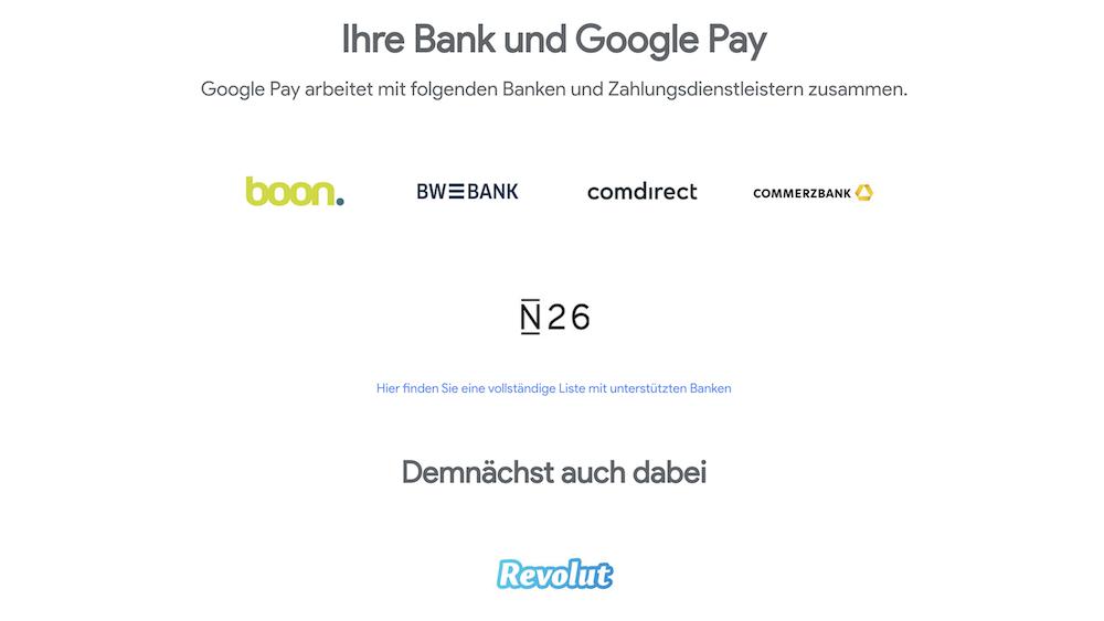 Google Pay Zusammenarbeit