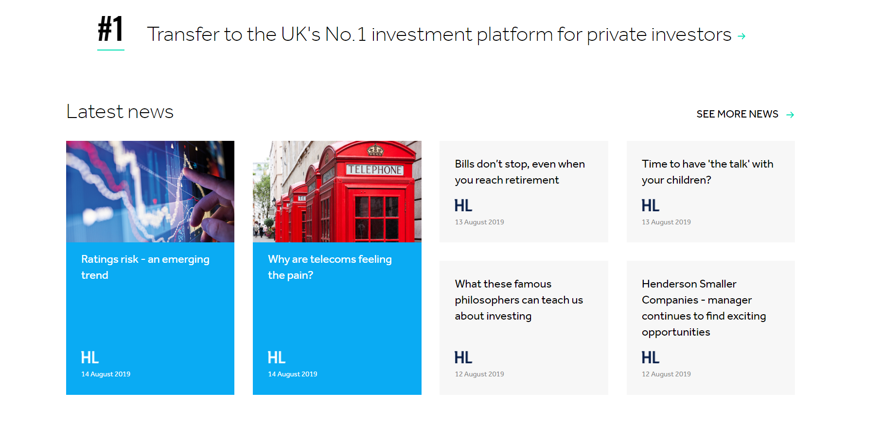 Hargreaves lansdown is UK´s No.1 investment platform
