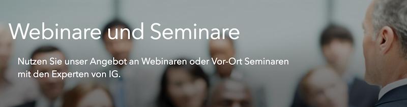 IG Webinare und Seminare