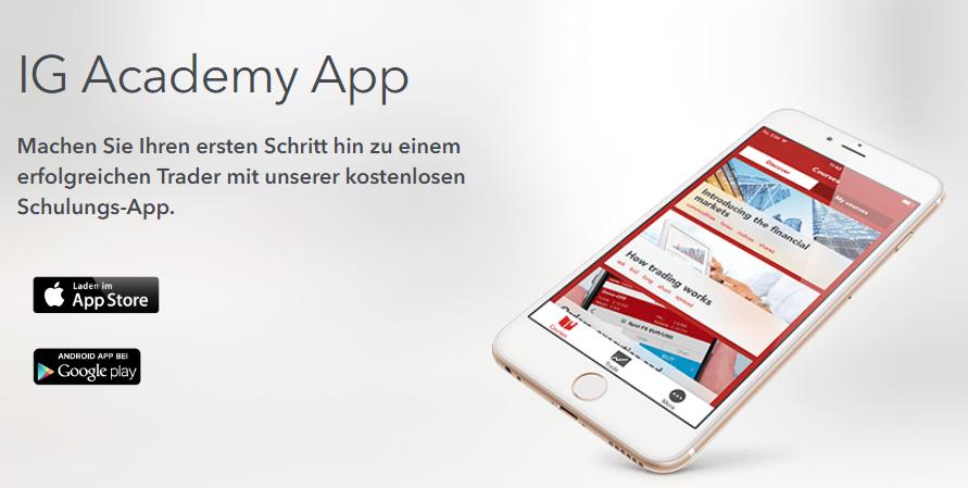 IG bietet eine kostenlose Schulungs-App
