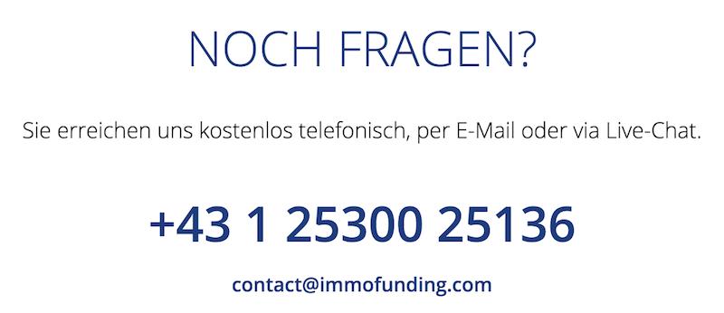 IMMOFUNDING Kundenservice