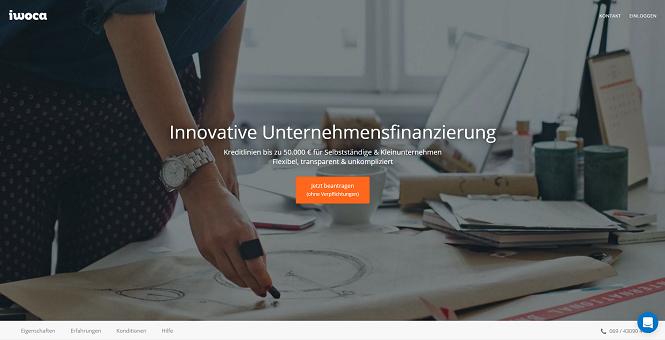 iwoca Homepage