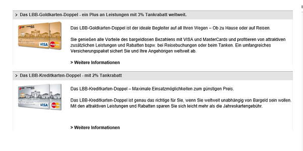 Doppelkarten der LBB auf lbb.de