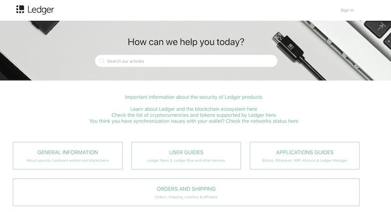 Ledger Wallet FAQ Bereich