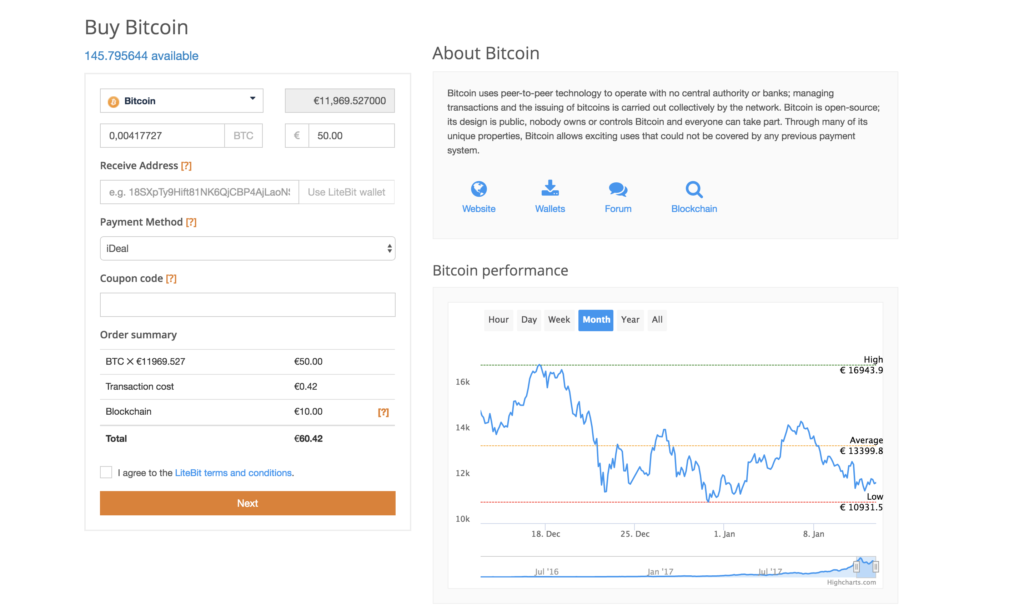 LiteBit.eu Kryptowährungen Kauf