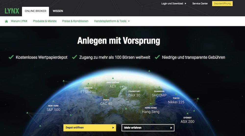 LYNX Homepage Testsiegers