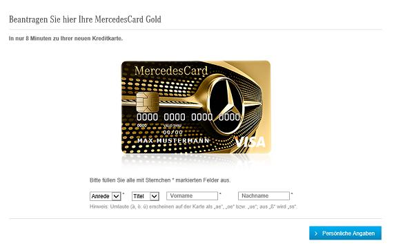 Mercedes Visa Card