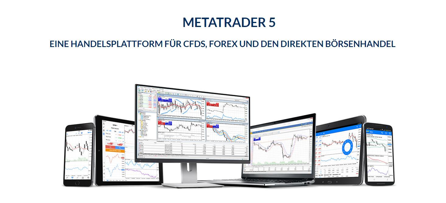 fxflat bietet den MetaTrader 5 zum Handeln an