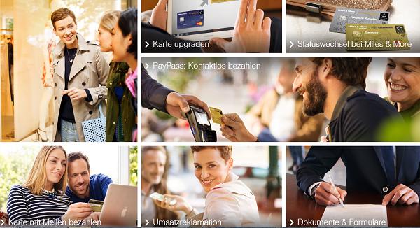 Service auf miles-and-more-kreditkarten.com