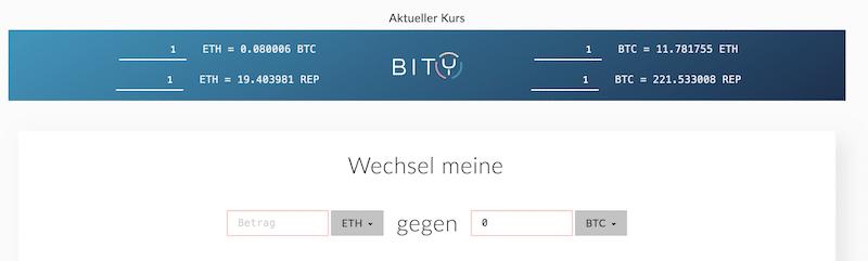 Ethereum gegen Bitcoins wechseln