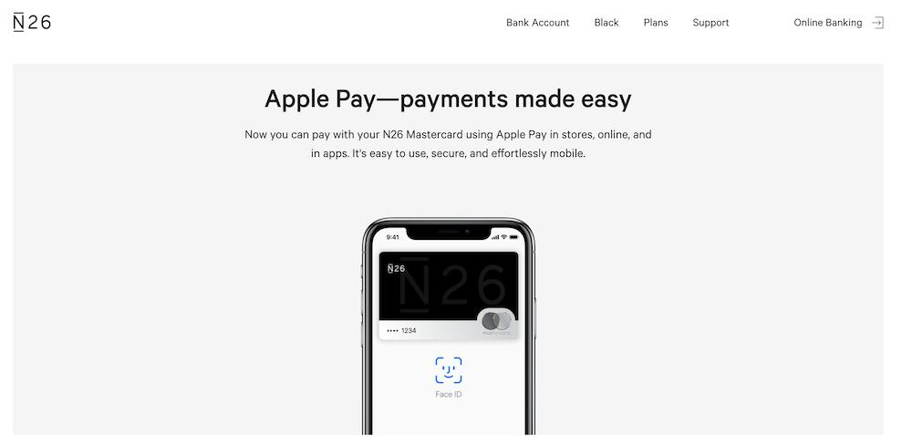 N26 Bezahldienst Apple