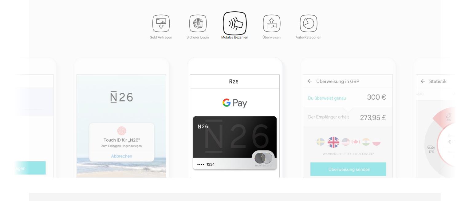 N26 unterstützt auch Google Pay