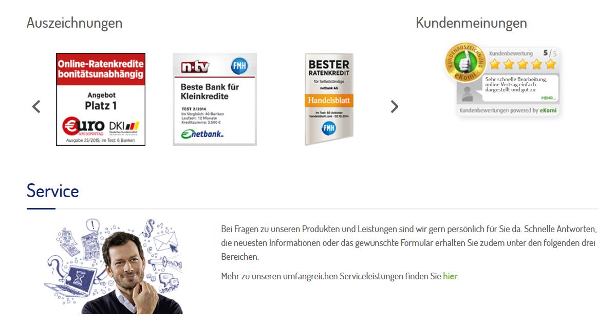 No-Risk-Angebot auf netbank.de