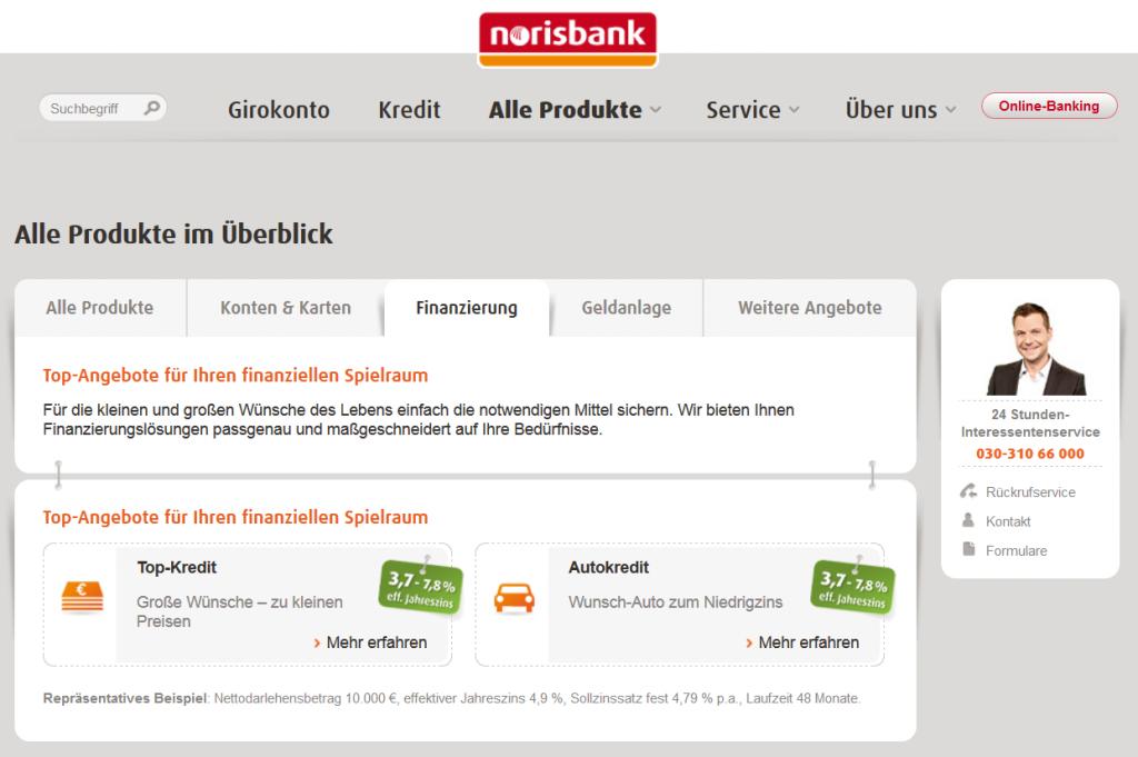 Das Kreditangebot der Norisbank