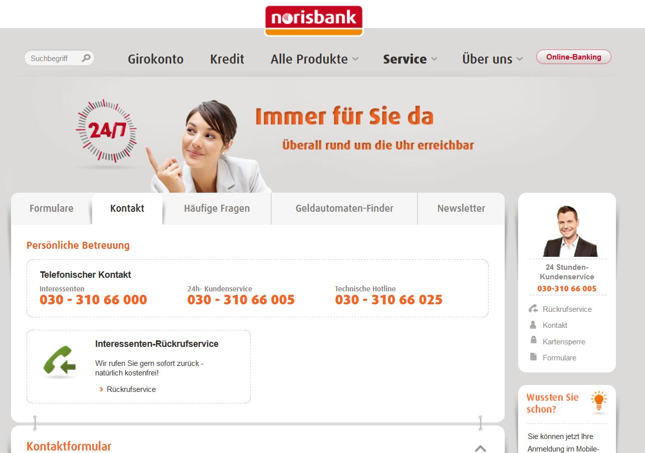 3D-secure-FAQ auf norisbank.de
