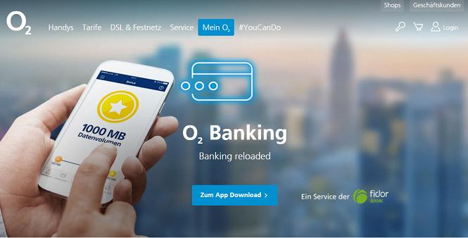 o2 Webseite