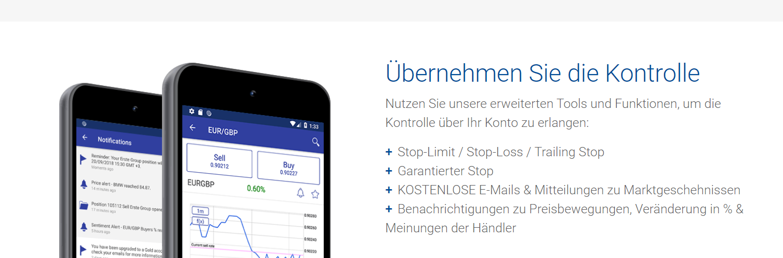Bei Plus500 auch von unterwegs traden mit der mobilen App