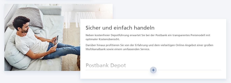 Handeln auch Sie sicher & einfach bei der Postbank