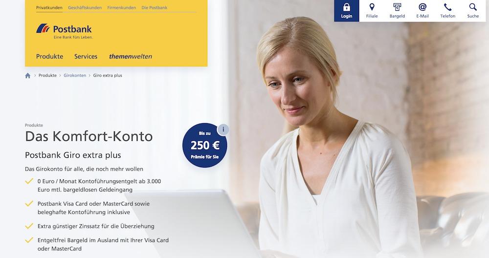 Postbank Komfort-Plus Girokonto