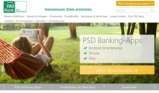 PSD Bank Berlin-Brandenburg mobile App