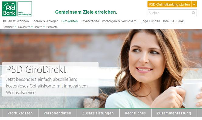 PSD Bank Berlin-Brandenburg Girokonto eröffnen