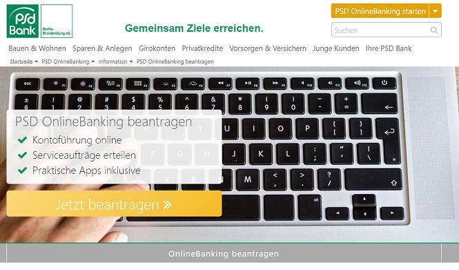 PSD Bank Berlin-Brandenburg Online Banking